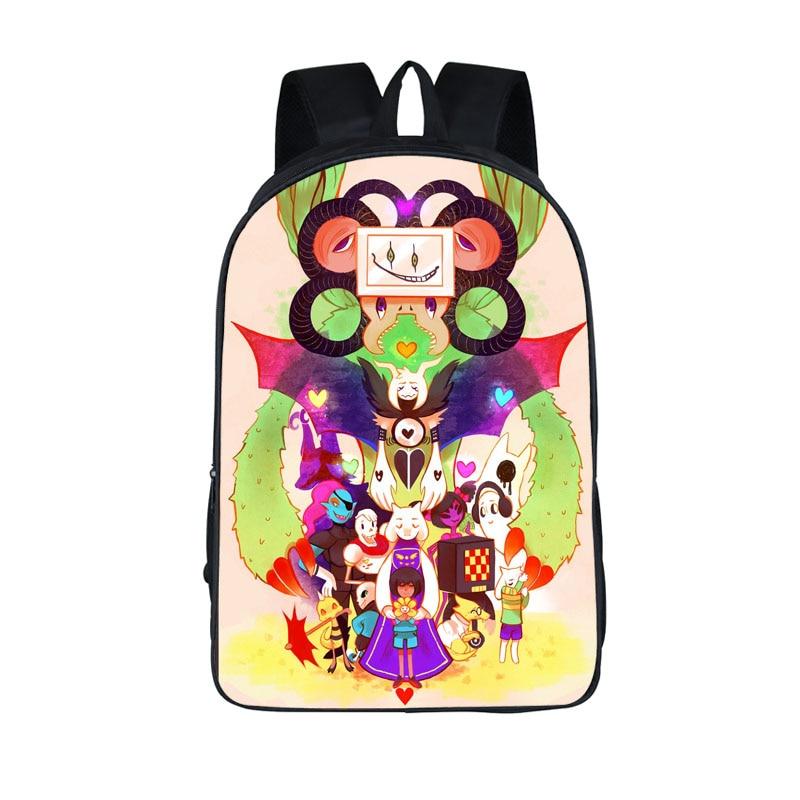 Undertale Backpack Sans And Papyrus School Backpacks Boys Girls Bag Children School Bags Undertale Schoolbags Kids Gift Bag 13 inch anime pokemon backpack pikachu students school bags boys girls daily backpacks children bag kids schoolbags best gift