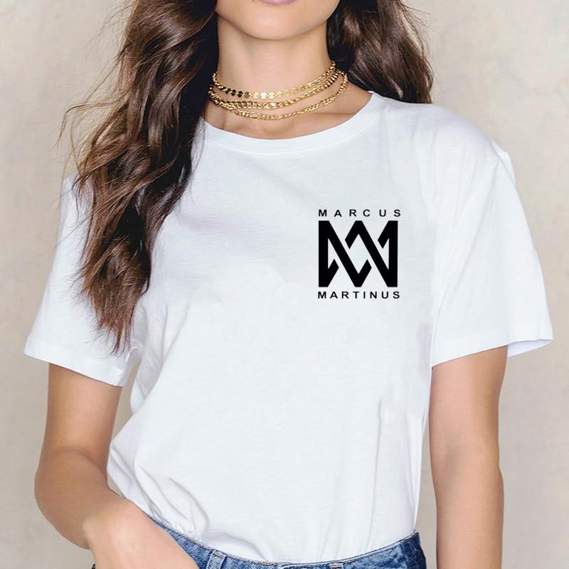 marcus and martinus   t     shirt   top women new   shirts   femme tee Album   t  -  shirt   hip hop korean   t     shirt   harajuku 90s summer female
