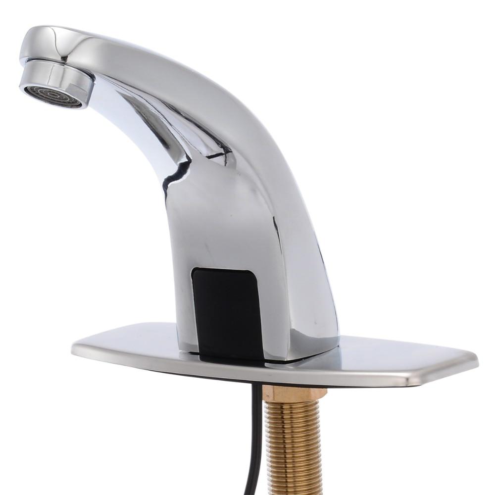 Vente chaude Automatique Capteur Bassin Robinets Salle De Bains Cuisine Poli Évier Robinet Un Trou G1/2 Livraison Toucher L'eau robinet Mayitr