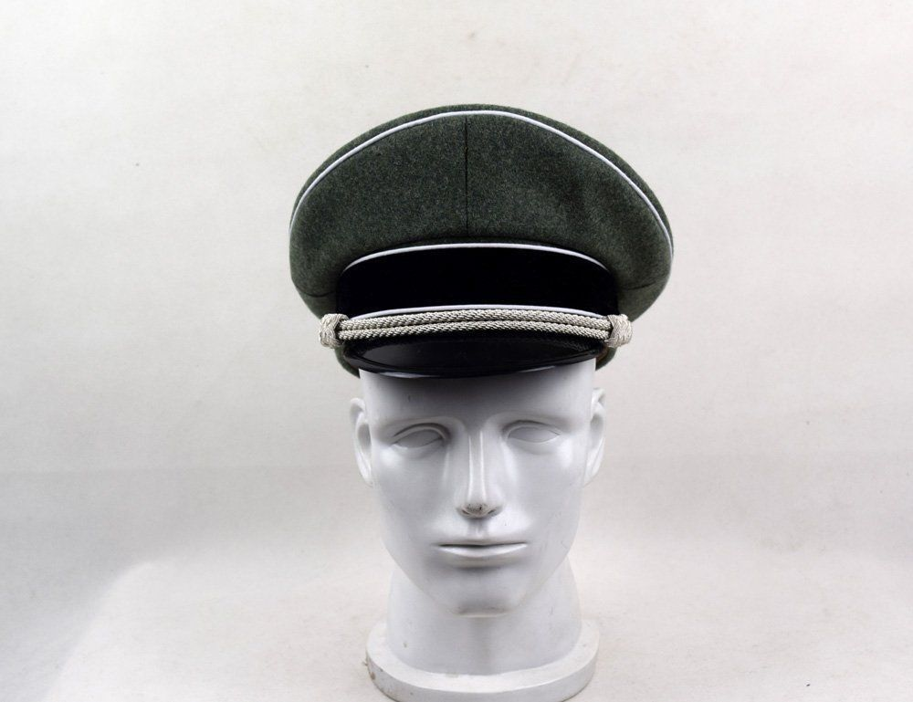 WWII German Army Elite M36 Officer Visor CAP Officer WOOL FIELD HAT World military Store