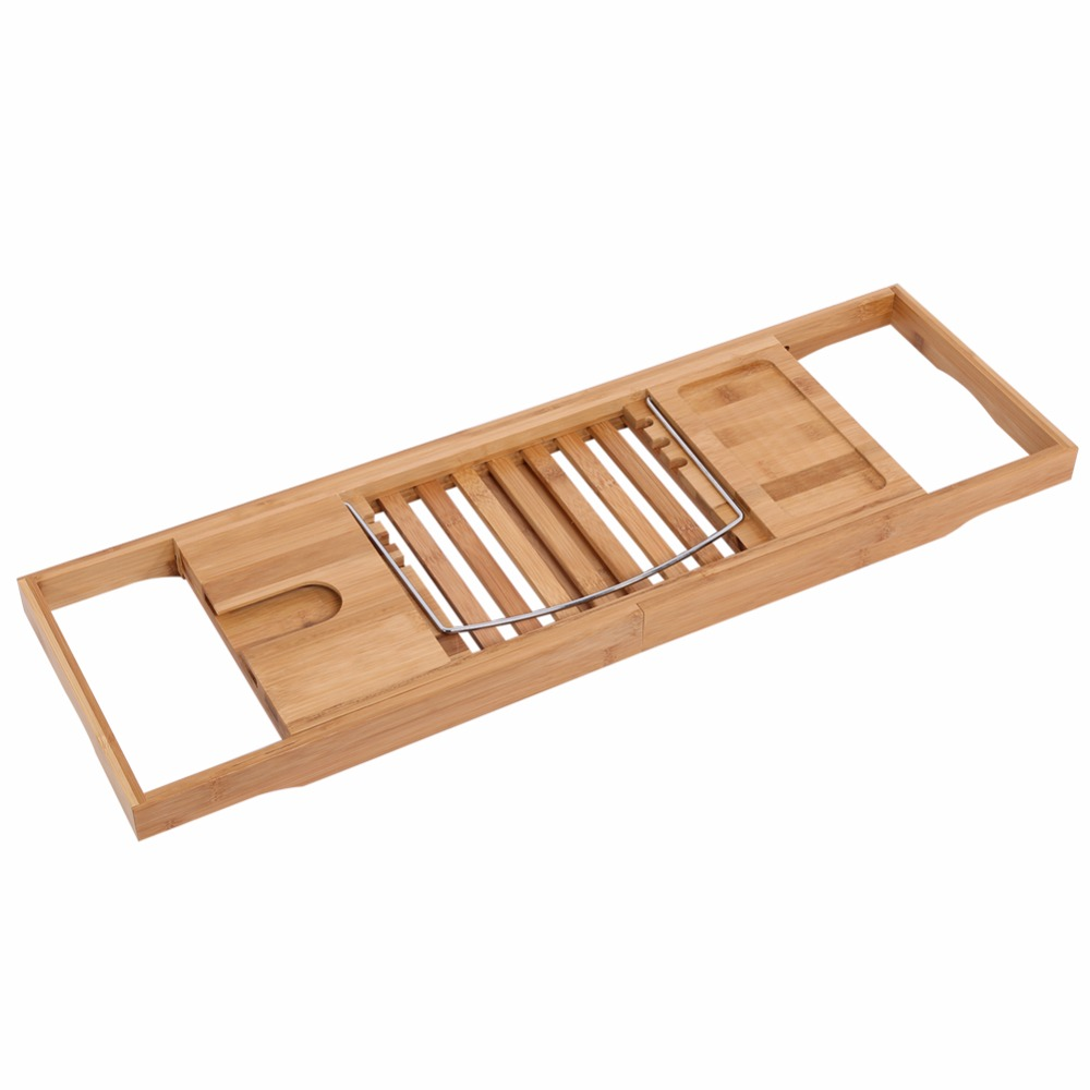 extendable bathroom storage shelf holder over bath caddy wooden bathtub rack reading tray stand bathroom accessories