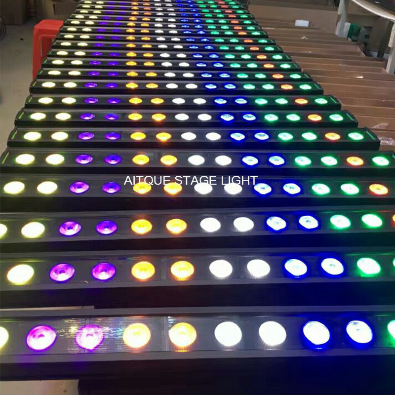 10lot Led Outdoor Light Matrix 14x18w Rgbwa Uv 6in1 Wall Washer Led Ip 65 Led Bar Uv Wall Outdoor Linear Led Wall Washer