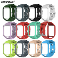 XBERSTAR TPE Wrist Band Watch Strap For TomTom Runner 2 3 Adventurer Golfer 2 Spark Spark