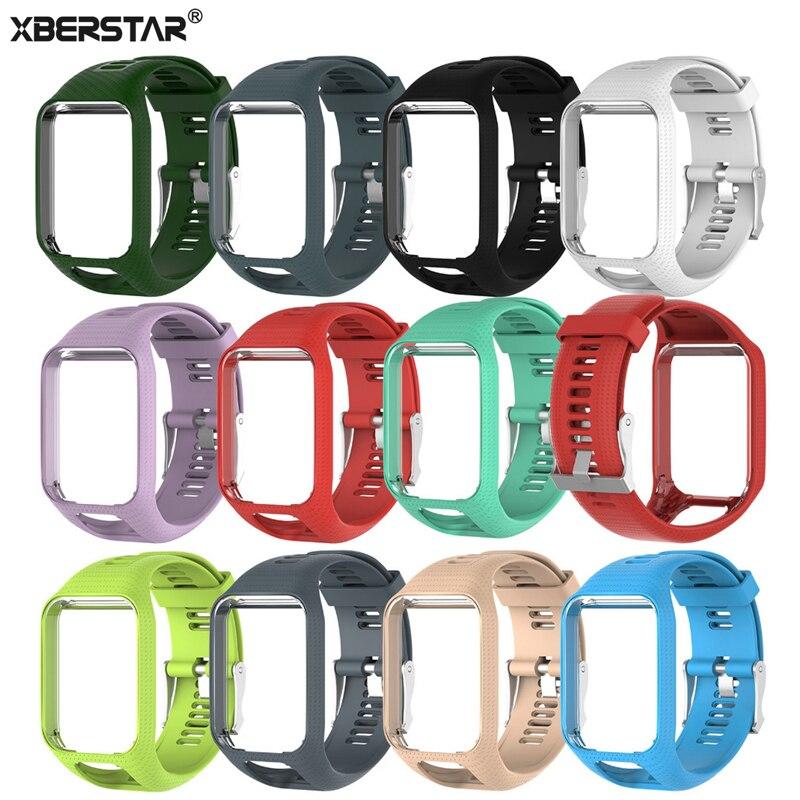 XBERSTAR TPE Handgelenk Band Uhr Strap Für TomTom Runner 2/3 Adventurer/Golfer 2 Funken/Funken 3 Uhrenarmbänder Strap GPS Uhr Neue Heiße