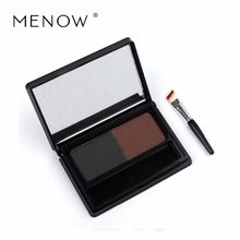 M.n Menow Two-color eyebrow porwder Belt Eyebrow Brush Waterproof Natural Stereo Hot selling Makeup cosmetic E15006(China)