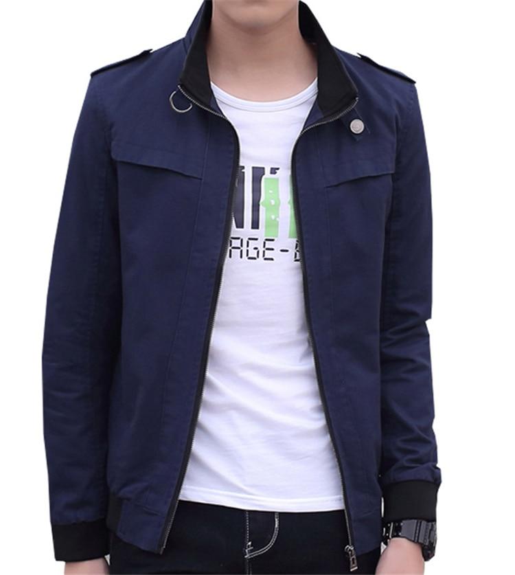 Ceket Erkekler Yeni Sonbahar Kış Arıtılmış Pamuk Moda Marka - Erkek Giyim - Fotoğraf 6