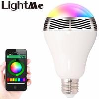Smart Ampoule E27 LED RGB Lumière Sans Fil Musique LED Lampe Bluetooth Changement de Couleur Ampoule App Contrôle Android IOS Smartphone