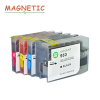 4x Magnetic Compatible Refillable Full Ink For Hp950 951 For HP Officejet Pro 8100 8600 251dw