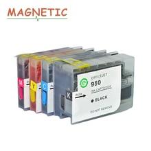 4x Магнитная совместимый многоразового полный чернила для HP 950 951 для HP Officejet Pro 8100/8600/251dw/ 276dw/8630/8650/8615/8625 принтера