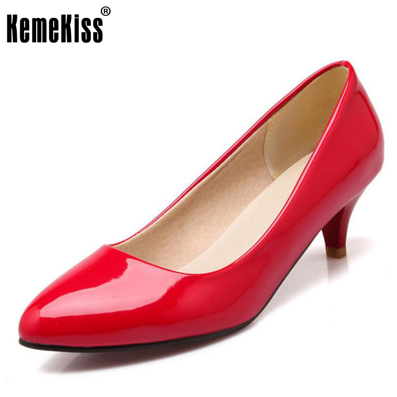 KemeKiss Women Thin High Heel Shoes Women Pointed Toe Solid Color Slip On High Heels Pumps Ladies Office Footwear Size 34-41 sexy women semi transparent lace high heels new 2017 ladies sequin shoes slip on thin heel pumps free shipping