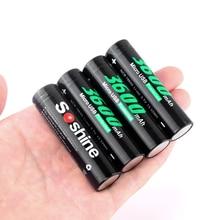 купить Original SOSHINE 18650 rechargeable battery 3.7V 3600mah Li-ion 18650 Batteries with Built-In Micro USB directly charger port по цене 492.39 рублей