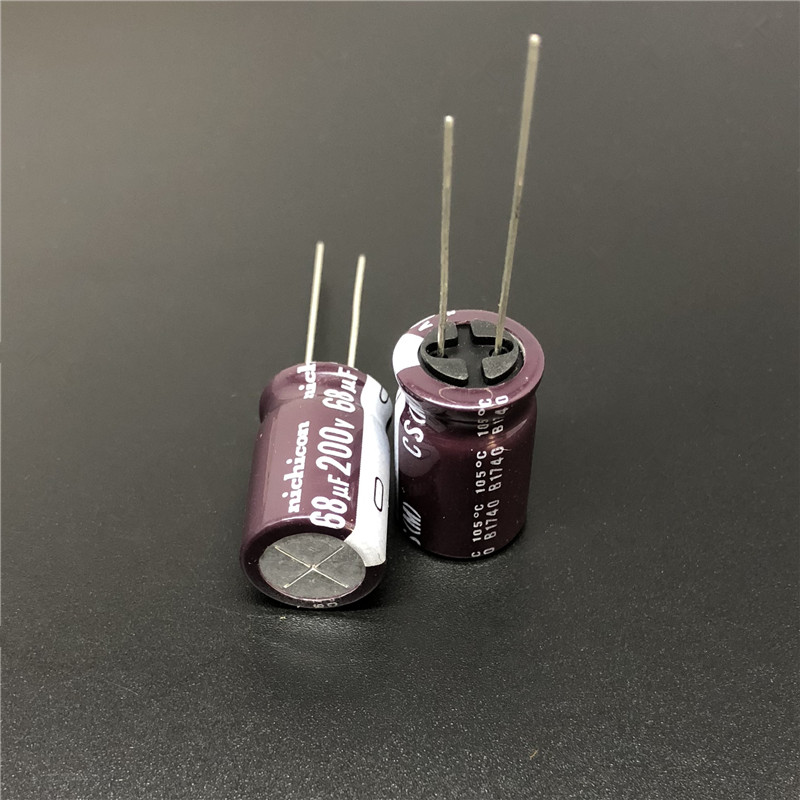 5pcs/50pcs 68uF 200V NICHICON CS Series 12.5x20mm High Ripple Current High Reliability 200V68uF Aluminum Electrolytic Capacitor