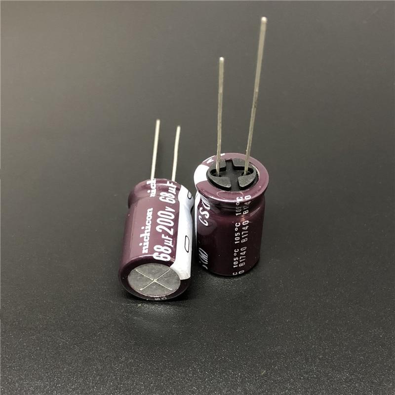 5pcs//50pcs 200V 68uF 200V Nichicon CS 12.5x20mm High ripple current Capacitor