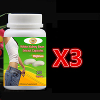 2 bottle 200pcs,Pure White Kidney Bean Extract Weight Loss Unwanted Carbs Smaller Waistline Free shiping