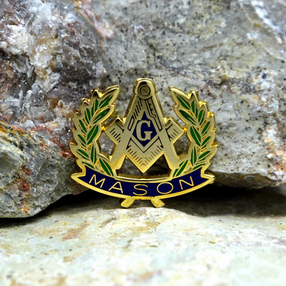 Masonic Lapel Pins Badge Mason Freemason   Olive Branch  Peace MASON 2.6 *2.3cm