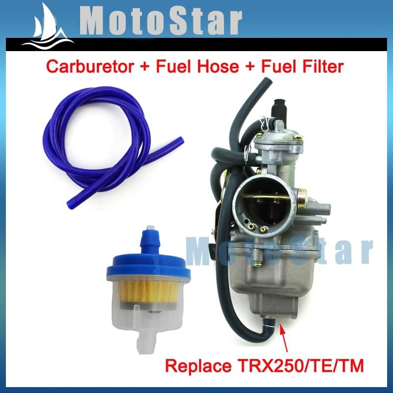 28mm Carburetor Fuel Hose Filter For Honda Carb TRX250 ...