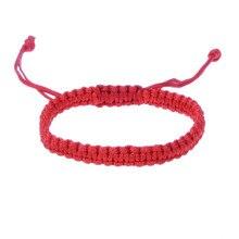 08ae1eb4739b Budista Tibetano rojo cadena pulsera para hombres y hombres ajustable  cuerda suerte estiramiento hecho a mano nudos