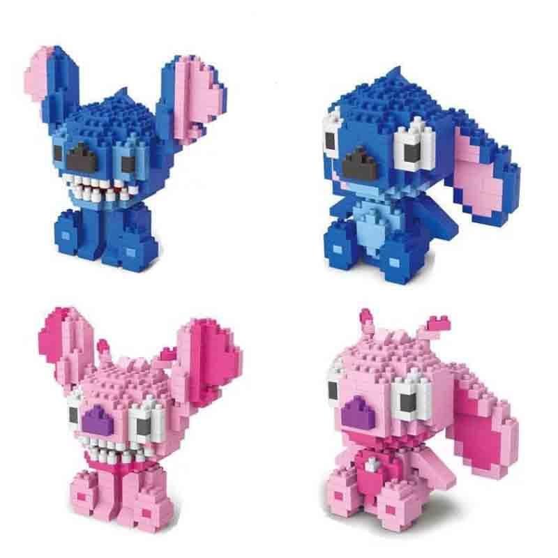 Cute Cartoon Stitch Building Blocks Diamond Mini Bricks Stitich Model Educational Toys Kids Gifts