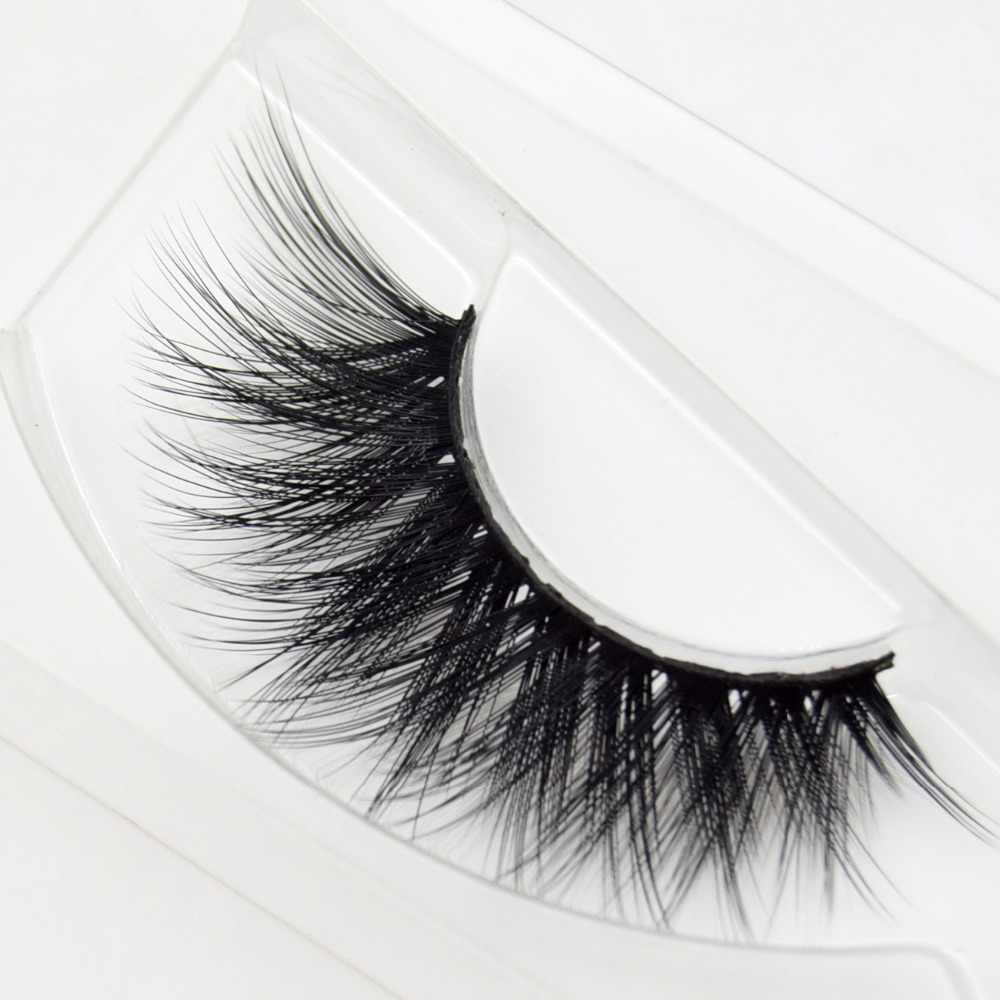 9759083e3b7 ... visofree silk 3D lashes faux mink eyelashes full strip lashes handmade  crisscross thick false eyelashes cosmetic