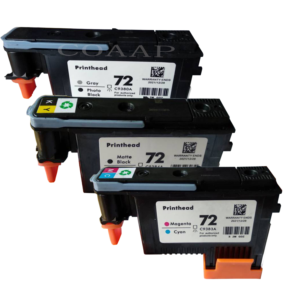 3pcs Compatible ink for HP 72 printhead C9380A C9383A C9384A for hp Designjet T2300 T610 T620 T770 T790 T1100 T1120 T1300