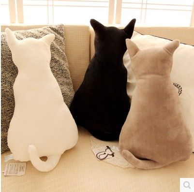 Free shipping Creative figure cat big pillow doll plush toy doll cushion for leaning on. Christmas and New Year gift  цена