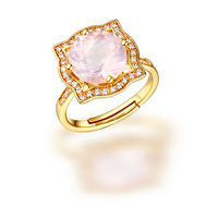 Live Ring Can Be Customized Processing With 925 Natural Powder Jewelry Lovers Ring Manufacturers Accessories