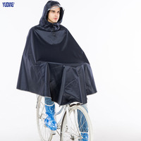 Yuding פוליאסטר אופני גשם פונצ 'ו מעיל גשם עבה מקצועי גשם של הגברים פונצ' ו פונצ 'ו מעיל גשם אופניים קלטת רעיוני