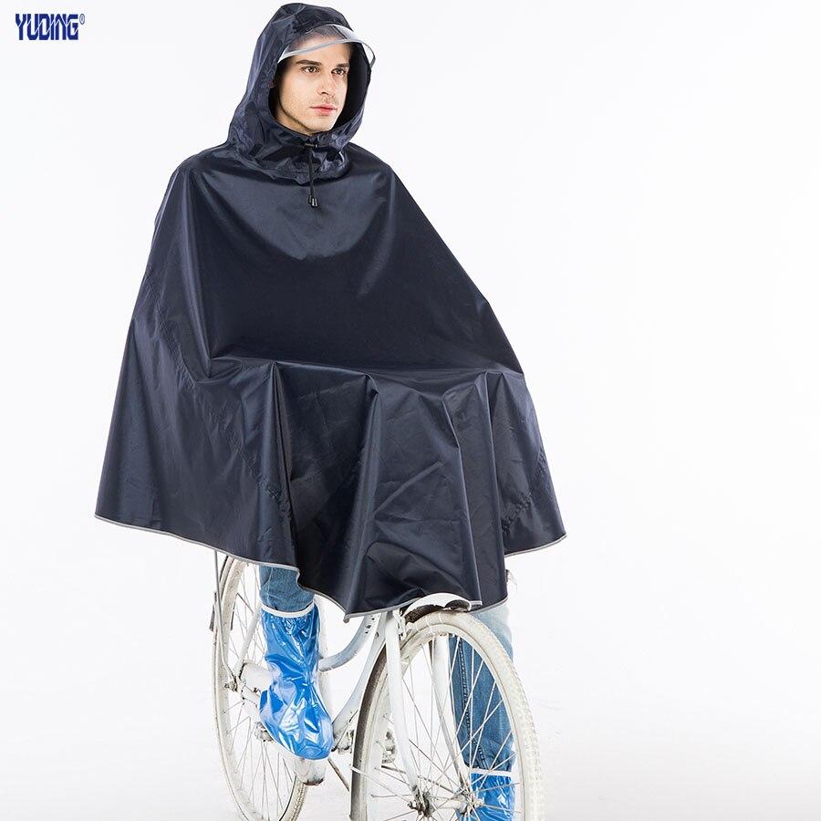 yuding rain poncho polyester bicycle thick raincoat rain poncho menu0027s poncho reflective tape bicycle raincoat