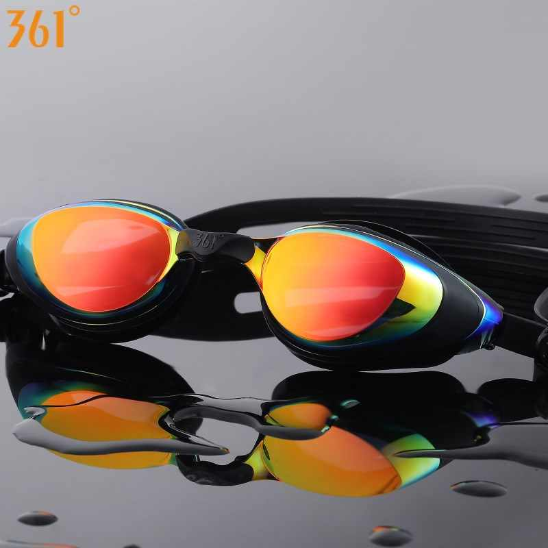 361 Myopia Swimming Goggles Prescription Swimming Glasses for Pool Mirrored Diopter Swim Goggle for Adult Men Women Children
