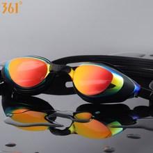 Плавательные очки для близорукости 361, очки для плавания по рецепту для бассейна, зеркальные диоптрии, очки для плавания для взрослых, мужчин, женщин и детей