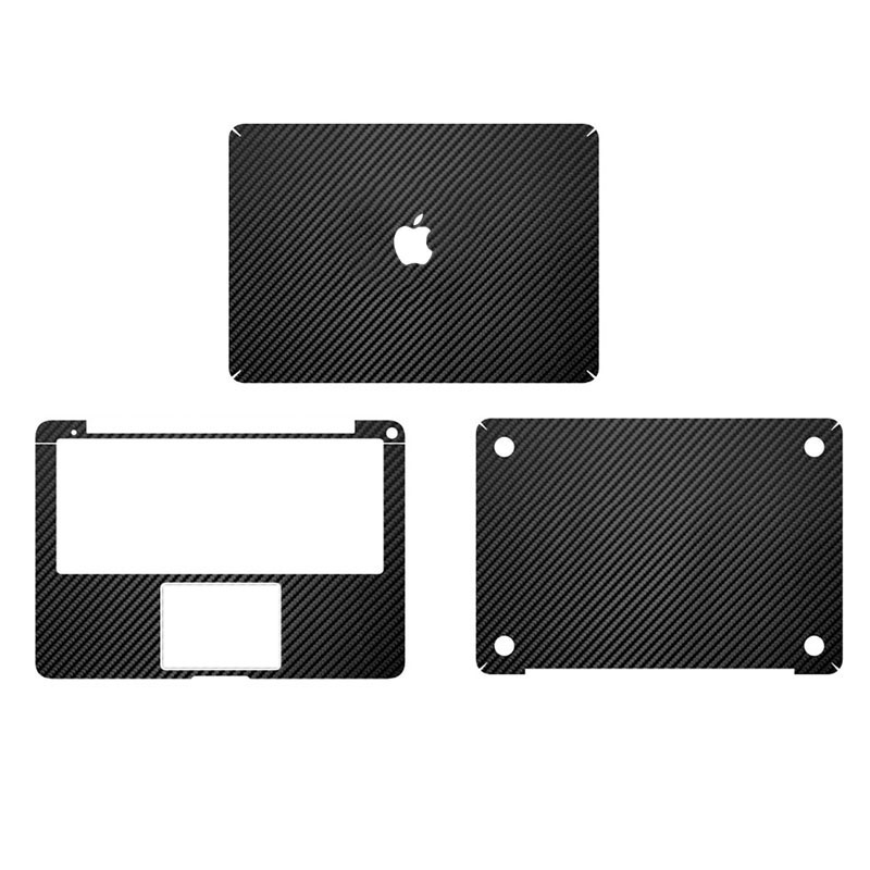best loved 44127 eed4c US $23.99 |Black Carbon Fiber Full Body Cover Laptop Decal Stickers Case  For Apple Macbook Air 13 13.3 Inch Laptop Protective Cover Skin-in Laptop  ...