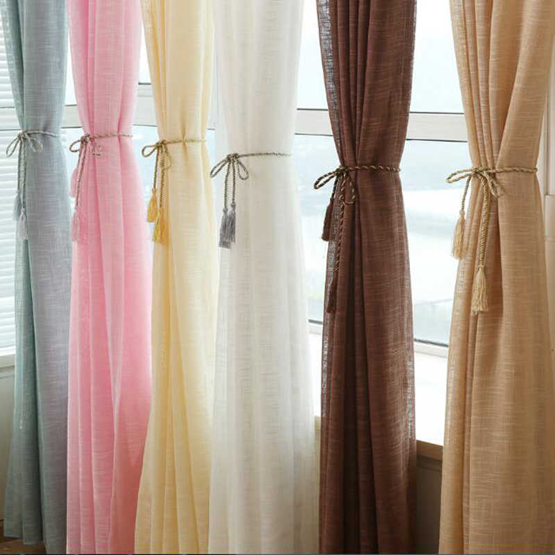 Pink Color tulle grey curtains blinds yellow Wedding draping fabric kitchen short red curtains for living room WP342B