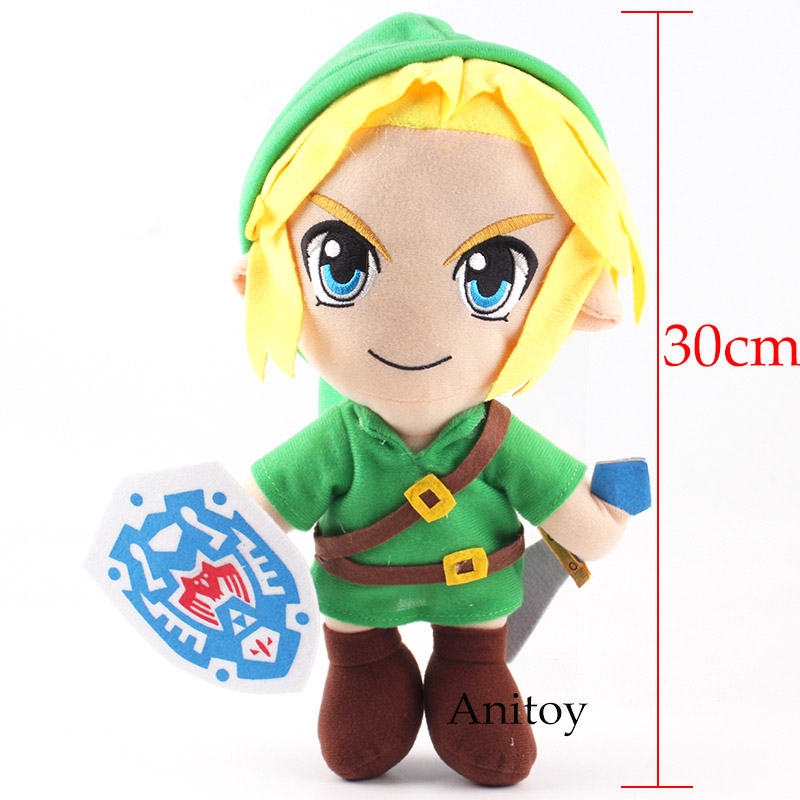 Anime The Legend Of Zelda Link Fabric Plush Toy Stuffed Doll Birthday Gift 30cm