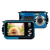HD Digital Camera Video Camcorder Smile Capture Waterproof Mini Cameras Voice Recorder 2 7 Inch Screen