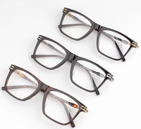 2019 New Retro Big Face Plastic Titanium Unisex Business Myopia Glass Frame Optical Glasses Frame Luxury brand MB0710 Oculos