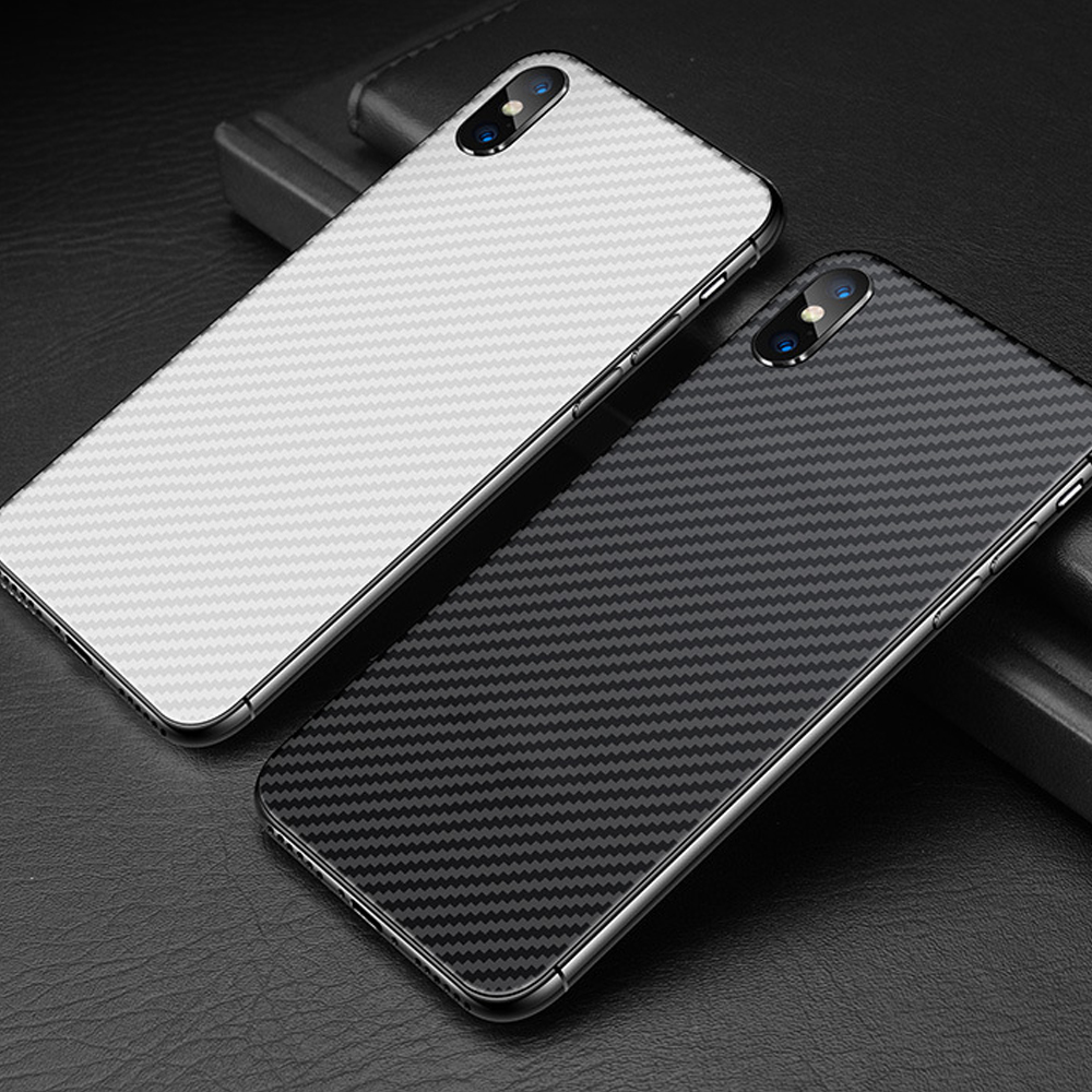 Buyruo Carbon Fiber Soft Back Screen Protector Sticker For apple iPhone XS Max XR Film full cover For iphone X 7 8 6 6S Plus-in Screen Protectors from Consumer Electronics