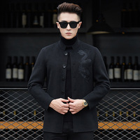 A7 New Fashion Autumn & Winter Clothing wool coat Dad outfit men's middle aged and elderly double faced men's coat wool jacket