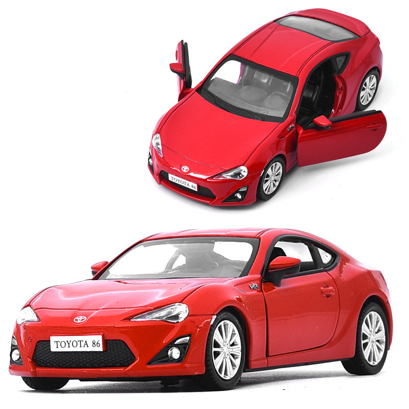 Sale 1:36 Toyota 86 Sports Car Alloy Model,die-cast Metal Door Pull Back Model,children's Toy Car Collection Gift,free Shipping
