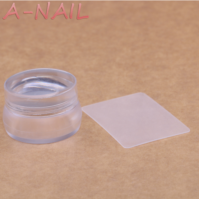 A NAIL Bottle Shape Matte Nail Art Stamper Scraper With Cap Silicone Jelly 35cm