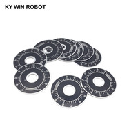 potentiometer knob 10pcs 0-100 WTH118 potentiometer knob scale digital scale can be equipped with WX112 TOPVR (5)
