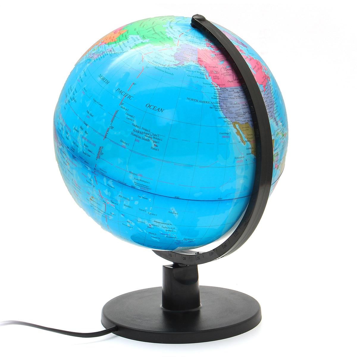 25 см светодиодный Глобус земли карта мира география обучающая игрушка для рабочего стола украшения дома и офиса помощи миниатюры детский подарок