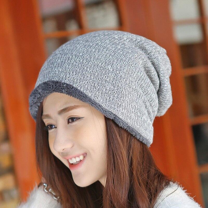 Sombrero de invierno Gorros de piel de punto Gorras cálidas Skullies - Accesorios para la ropa - foto 3