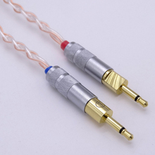 1.8Meter Hand Made Hello-end 5n Pcocc four+four Hybrid Silver Plated Headphone Improve Cable for Sennheiser HD700