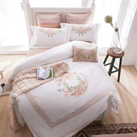 Modern Classical Style Luxurious Embroidery King Queen Size 4/6/7 PCS Bedding Set Duvet Cover Bed Linen Bed sheet Pillowcases