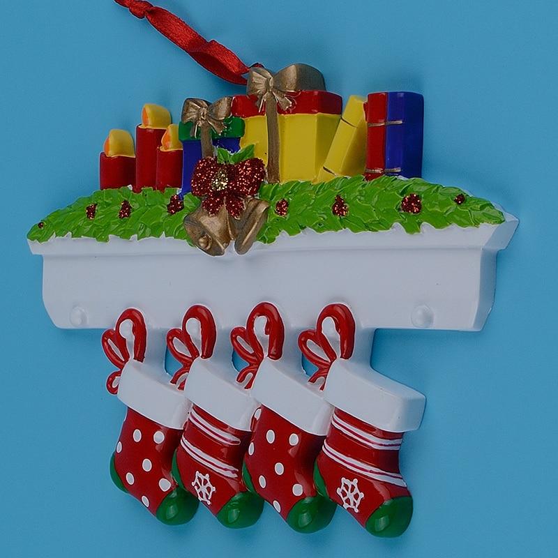 Maxora Mantel Medias Familia de 4 adornos de árboles de navidad - Para fiestas y celebraciones - foto 6