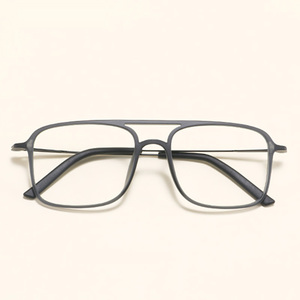 Image 3 - Super Light Square ULTEM Eyeglasses Double Beam Glasses Frame Men and Women Models Tide Big Face Comfortable 7g