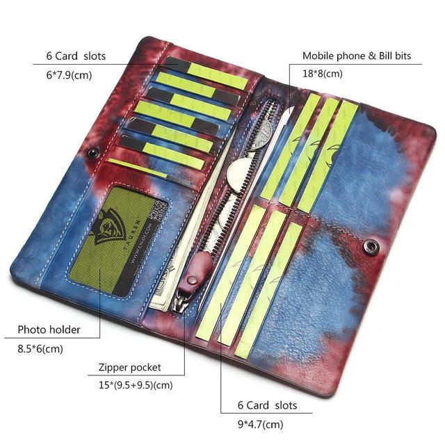 Фото женская кисточка на молнии винтажный клатч из натуральной яловой