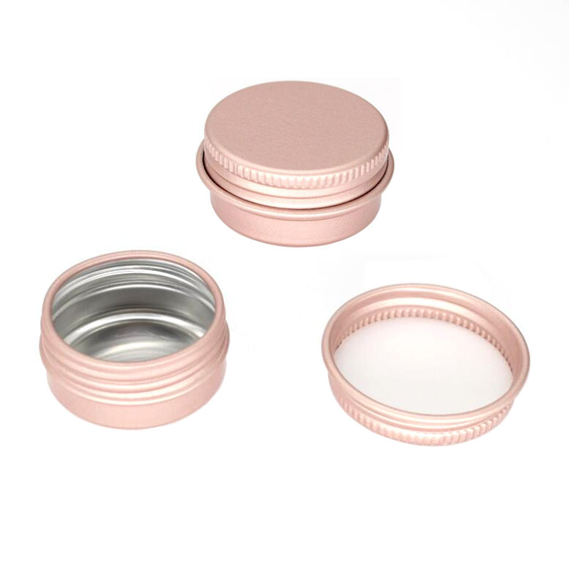 Image 3 - 100 x 15g 10g 30g Empty Mini Rose gold Aluminum Cream Jar Pot Nail Art Makeup Lip Gloss Empty Cosmetic Metal Tins Containers-in Refillable Bottles from Beauty & Health
