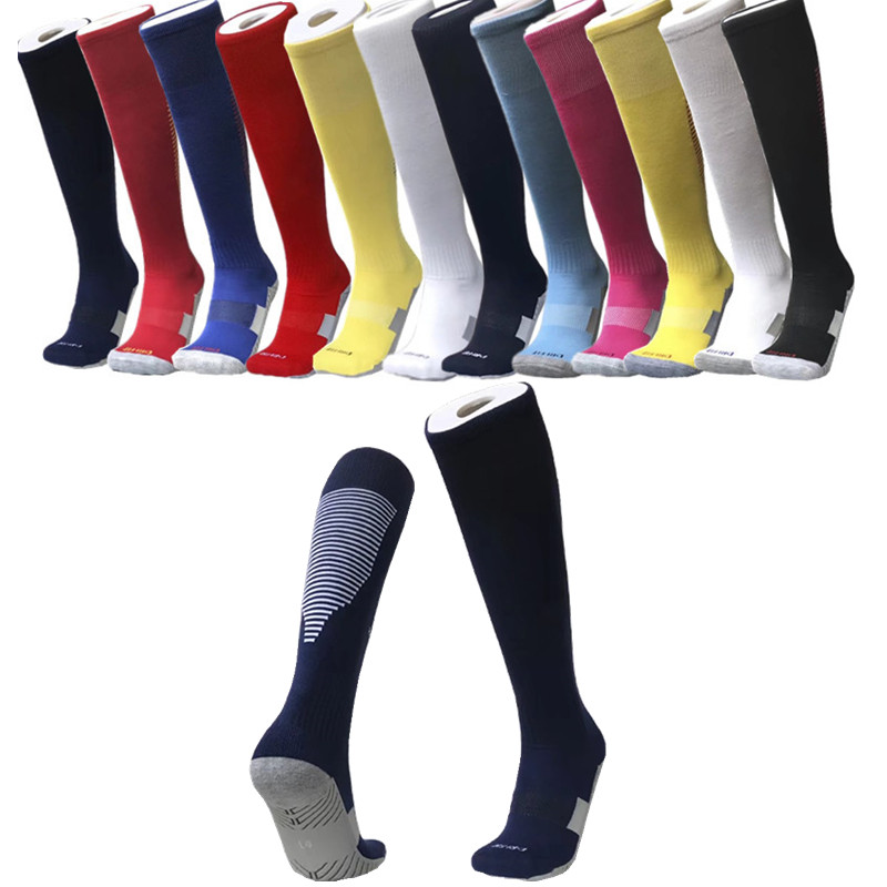 Calcetines de fútbol para hombre nuevos calcetines de fútbol profesional  antideslizantes gruesos calientes hasta la rodilla 96c2de3aa884a