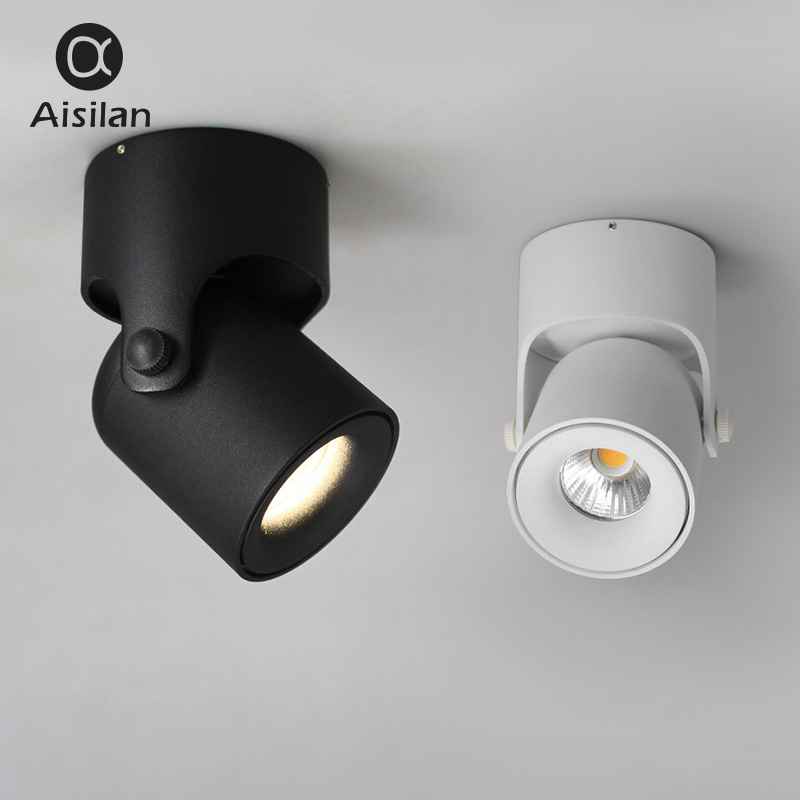 ISL LED Ceiling Lamp Spot Light Downlight Surface Mounted COB Background Spot Light Adjustable 180 Degrees